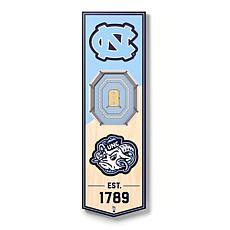 "Officially Licensed NCAA 6"" x 19"" 3D Stadium Banner - NC Tar Heels"