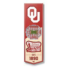 "Officially Licensed NCAA 6"" x 19"" 3D Stadium Banner - Oklahoma Sooners"