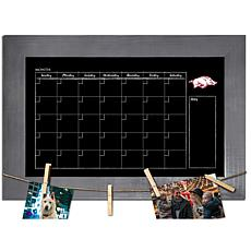 Officially Licensed NCAA Arkansas Monthly Chalkboard w/ Clothespins