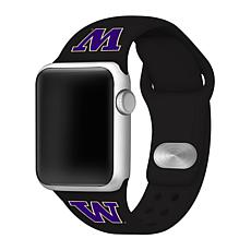 Officially Licensed NCAA Black 38/40MM Apple Watch Band - WA Huskies