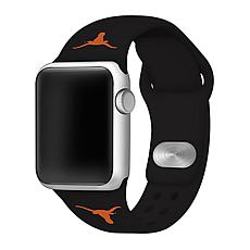 Officially Licensed NCAA Black 38/40MM Apple Watch Band- TX Longhorns