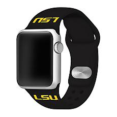 Officially Licensed NCAA Black 42/44MM Apple Watch Band - LSU Tigers