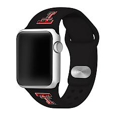 Officially Licensed NCAA Black 42/44MM Apple Watch Band- Texas Tech