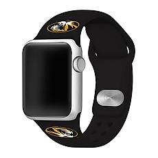 Officially Licensed NCAA Black 42/44MM Apple Watch Band - MO Tigers