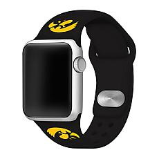 Officially Licensed NCAA Black 42/44MM Apple Watch Band- Iowa Hawkeyes