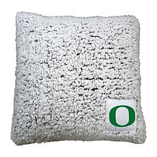 Officially Licensed NCAA by Logo Chair Frosty Throw Pillow - Oregon