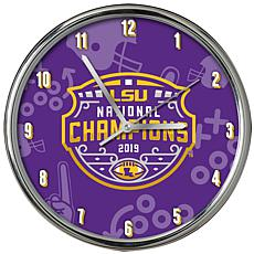 Officially Licensed NCAA Chrome Clock 2019 National Champions
