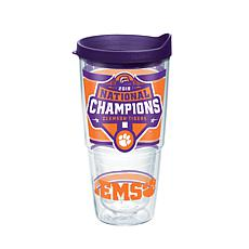 Officially licensed NCAA Clemson 2018 Champions 24 oz. Tumbler w/lid