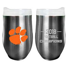 Officially Licensed NCAA Clemson 2018 Champs 12 oz. Tumbler - 2-pack