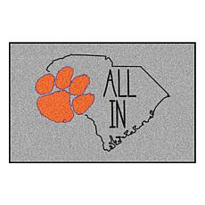 """Officially Licensed NCAA Clemson University 19""""x30"""" Southern Style Rug"""