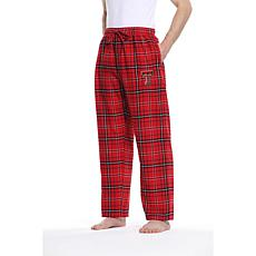 Officially Licensed NCAA Concepts Sport Men's Flannel Pant-Texas Tech