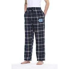 Officially Licensed NCAA Concepts Sport Men's Plaid Flannel Pant-UNC