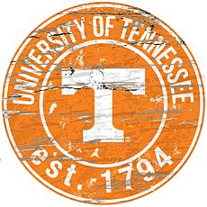 Officially Licensed NCAA  Distressed Round Sign - Un. of Tennessee