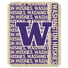 Officially Licensed NCAA Double Play Woven Throw - Washington