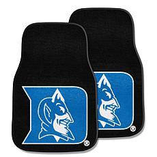 Officially Licensed NCAA Duke Blue Devils Carpet Car Mat 2-Piece Set