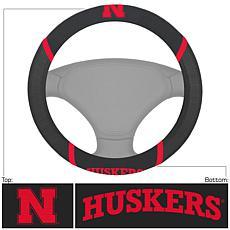Officially Licensed NCAA Embroidered Steering Wheel Cover - Nebraska