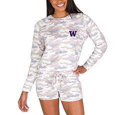 Officially Licensed NCAA Encounter Ladies Top & Short Set - Washington