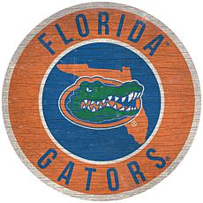 """Officially Licensed NCAA Florida 12"""" Wood Circle"""