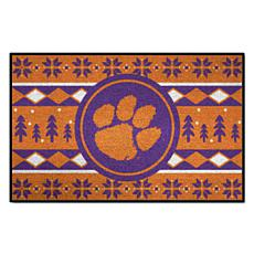 Officially Licensed NCAA Holiday Sweater Mat - Clemson University