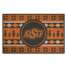 Officially Licensed NCAA Holiday Sweater Mat-Oklahoma State University