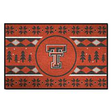 Officially Licensed NCAA Holiday Sweater Mat - Texas Tech