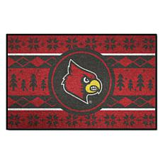 Officially Licensed NCAA Holiday Sweater Mat- University of Louisville