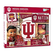 Officially Licensed NCAA Indiana Hoosiers Retro 500-Piece Puzzle