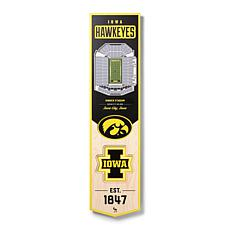 Officially Licensed NCAA Iowa Hawkeyes 3D Stadium Banner