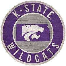 "Officially Licensed NCAA Kansas State 12"" Wood Circle"
