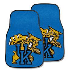 Officially Licensed NCAA Kentucky Wildcats Carpet Car Mat 2-Pc Set