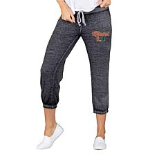 Officially Licensed NCAA Ladies Knit Capri Pant - University of Miami