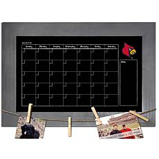 Officially Licensed NCAA Louisville Monthly Chalkboard w/ Clothespins