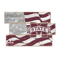 Officially Licensed NCAA Mississippi State Three Plank Flag