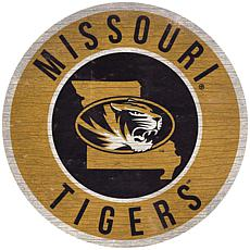 """Officially Licensed NCAA Missouri 12"""" Wood Circle"""