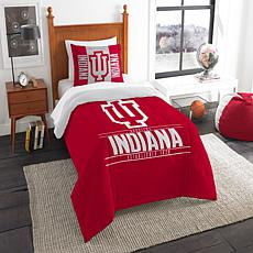 Officially Licensed NCAA Modern Take Twin Comforter Set -  Indiana