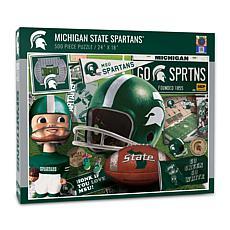 Officially Licensed NCAA MSU Spartans Retro Series 500-Piece Puzzle