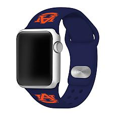 Officially Licensed NCAA Navy 42/44MM Apple Watch Band - Auburn Tigers