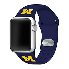 Officially Licensed NCAA Navy 42/44MM Apple Watch Band - MI Wolverines
