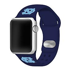 Officially Licensed NCAA Navy 42/44MM Apple Watch Band - NC Tar Heels