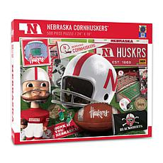 Officially Licensed NCAA Nebraska Cornhuskers Retro 500-Piece Puzzle
