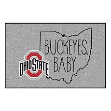 """Officially Licensed NCAA Ohio State 19"""" x 30"""" Southern Style Rug"""