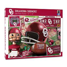 Officially Licensed NCAA Oklahoma Sooners Retro 500-Piece Puzzle