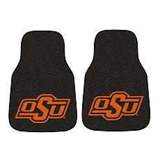 Officially Licensed NCAA Oklahoma State Carpet Car Mat 2-Piece Set