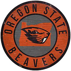 """Officially Licensed NCAA Oregon State 12"""" Wood Circle"""
