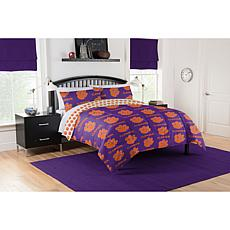 Officially Licensed NCAA Queen Bed in a Bag Set - Clemson Tigers