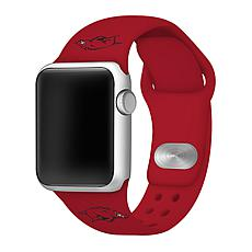 Officially Licensed NCAA Red 42/44MM Apple Watch Band - AR Razorbacks