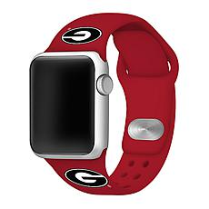 Officially Licensed NCAA Red 42/44MM Apple Watch Band - GA Bulldogs