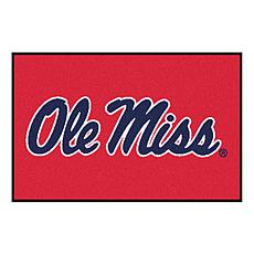 Officially Licensed NCAA Rug - Ole Miss (Red)