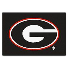 Officially Licensed NCAA Rug - University of Georgia (Black)