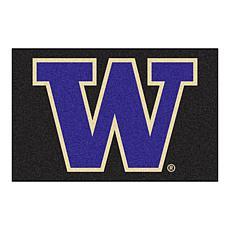 Officially Licensed NCAA Rug - University of Washington (Black)